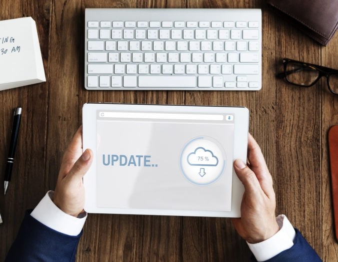Update Cloud Storage Data Information Concept